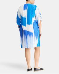 Denim & Supply Ralph Lauren - Blue Plus Size Two-tone Printed Dress - Lyst