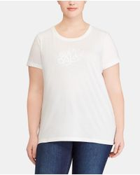 Denim & Supply Ralph Lauren - White Plus Size T-shirt With Matching Embroidery - Lyst