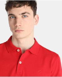 GREEN COAST - Red Short Sleeved Polo Shirt for Men - Lyst
