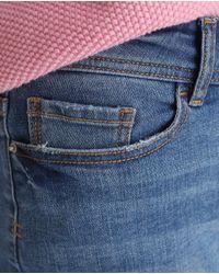 GREEN COAST Blue Basic Denim Shorts