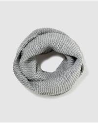 El Corte Inglés Gray Grey Knit Collar