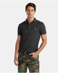 Polo Ralph Lauren - Gray Grey Short Sleeved Slim-fit Piqué Polo Shirt for Men - Lyst