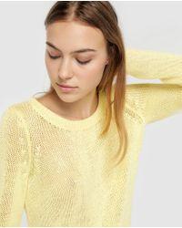 Jersey Liso De Mujer De Manga Larga Vero Moda de color Yellow