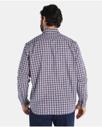 Lacoste - Big And Tall Regular-fit Blue Checked Shirt for Men - Lyst