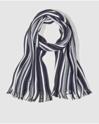 Tommy Hilfiger | Gray Multicoloured Striped Knit Scarf for Men | Lyst