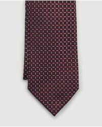 Corbata Jacquard Con Estampado De Micro Puntos Emporio Armani de hombre de color Red