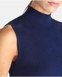 Polo Ralph Lauren - Blue Sleeveless Polo Neck Sweater - Lyst