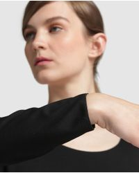 Armani - Black Long Sleeve T-shirt With A Rounded Neckline - Lyst