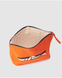 Jo & Mr. Joe Orange Cotton Toiletry Bag With Print