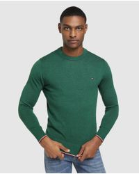 Jersey De Hombre Verde Con El Cuello Redondo Tommy Hilfiger de hombre de color Green