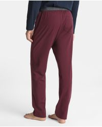 Emporio Armani - Multicolor Long Maroon Knitted Pyjama Bottoms for Men - Lyst