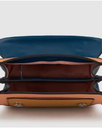 Jo & Mr. Joe - Blue Art Brut Small Multicoloured Crossbody Bag With Flap - Lyst