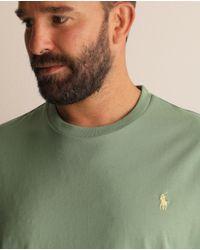Camiseta De Hombre Regular Fit Verde Manga Corta Tallas Grandes Polo Ralph Lauren de hombre de color Green