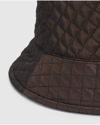 El Corte Inglés Brown Quilted Rain Hat