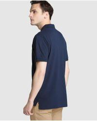 Tommy Hilfiger - Blue Short Sleeved Piqué Polo Shirt for Men - Lyst