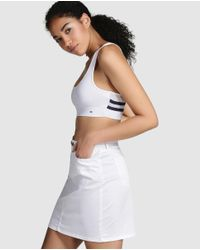 Tommy Hilfiger - White Cropped T-shirt - Lyst