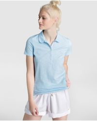 Tommy Hilfiger - Blue Polo Shirt With Strass - Lyst