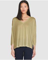 Polo Ralph Lauren | Natural Long Khaki T-shirt | Lyst