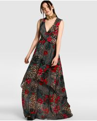 Guess | Multicolor Printed Dress With Frills | Lyst