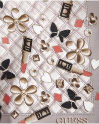 Guess - Multicolor Checked Printed Silk Handkerchief - Lyst
