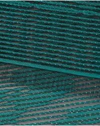Armani - Green Jacquard Print Foulard - Lyst