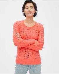 Jersey De Mujer Calado Con Manga Larga Gap de color Red