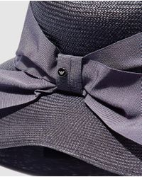 Emporio Armani Gray Wo Grey Hat With Bow