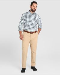Tommy Hilfiger - Big And Tall Classic-fit Green Checked Shirt for Men - Lyst