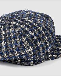 Gorra Baker De Mujer De Tweed Azul Marino El Corte Inglés de color Blue