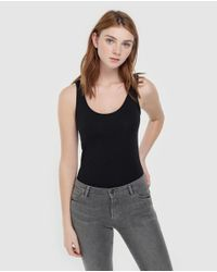 Camiseta Básica De Mujer Sin Mangas Esprit de color Black