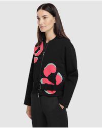 Cazadora Bomber De Mujer En Punto Milano Emporio Armani de color Black