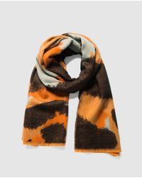 Desigual Orange Multi Leo Animal Print Scarf