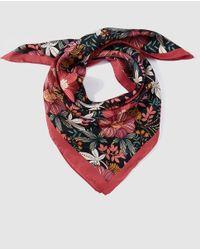 El Corte Inglés Multicolor Multicoloured Floral Print Silk Scarf
