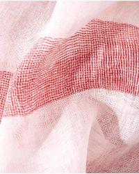 Gloria Ortiz - Multicolor White And Maroon Linen Foulard - Lyst