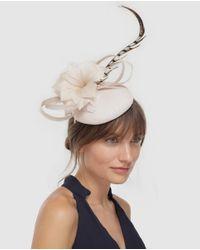El Corte Inglés Natural Beige Hat-style Fascinator With Flowers
