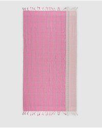 El Corte Inglés Pink Striped Cotton Sarong