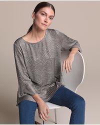 Camiseta De Mujer Con Print Animal Y Volantes Woman El Corte Inglés de color Metallic