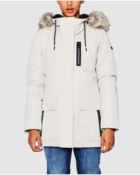 Lyst Esprit Parka With A Fur trimmed Hood in Natural
