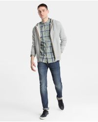 GREEN COAST - Gray Grey Casual Jacket With Hood for Men - Lyst