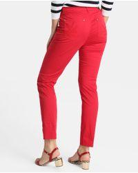 Yera - Red Skinny Trousers - Lyst