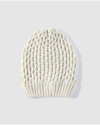El Corte Inglés Natural Beige Knitted Hat