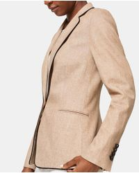 Esprit Brown Camel Blazer With Piping