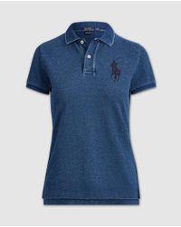 Polo Ralph Lauren - Blue Skinny Fit Big Pony Polo - Lyst