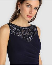 Lauren by Ralph Lauren Blue Woman Long Jumpsuit With Gemstones