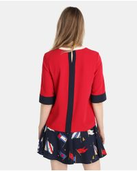 Tommy Hilfiger Red T-shirt With French Sleeves