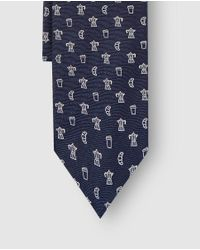 Polo Ralph Lauren - Printed Navy Blue Jacquard Silk Tie for Men - Lyst