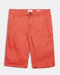 Esprit - Red Bermuda Shorts for Men - Lyst
