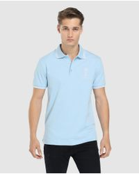 GREEN COAST - Pale Blue Short Sleeved Polo Shirt For The Russia 2018 Football World Cup for Men - Lyst