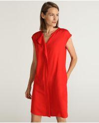 Vestido Corto Con Pliegue Delantero Woman El Corte Inglés de color Red