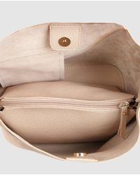 El Corte Inglés Natural Small Nude Hobo Bag With Fastener